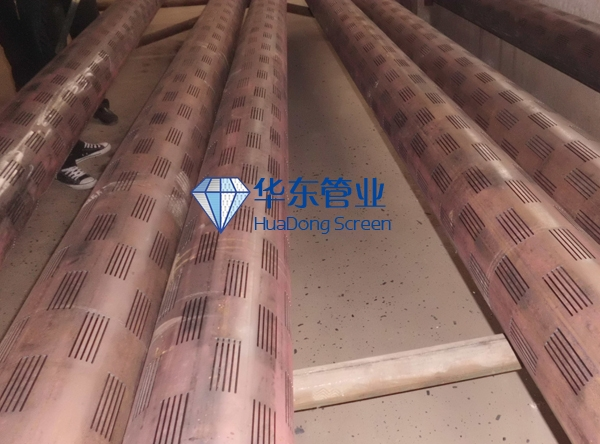 Slotted casing pipe